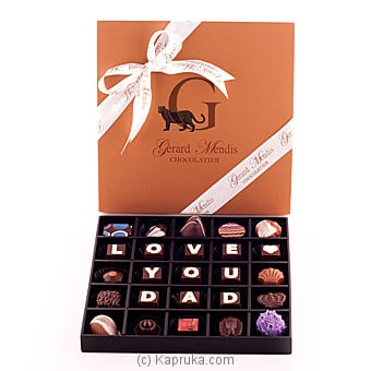 Love You Dad 25 Piece Chocolate Box(GMC) at Kapruka Online for specialGifts