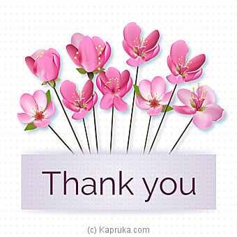 Thank You Card at Kapruka Online for specialGifts