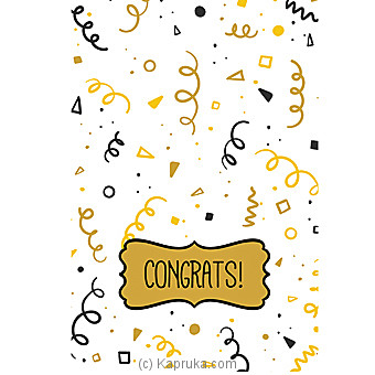 Congratulations Greeting Card at Kapruka Online for specialGifts