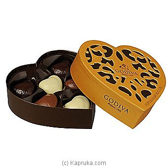 Godiva 6 Assorted Chocolate Heart at Kapruka Online for specialGifts