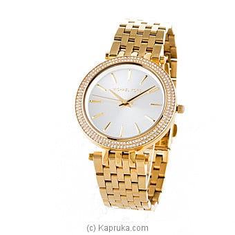 Michael Kors Darci Glitz Gold Dial Pave Bezel Ladies Watch at Kapruka Online for specialGifts