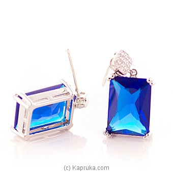 Blue Crystal Stone Earring at Kapruka Online for specialGifts