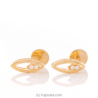 22K Gold Ear Stud Set With 4 (c/z) Rounds at Kapruka Online for specialGifts