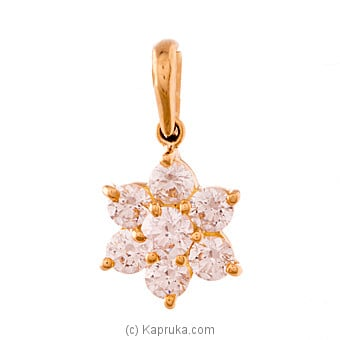 Vogue Gold Pendant Set With 7(c/z) Rounds at Kapruka Online for specialGifts