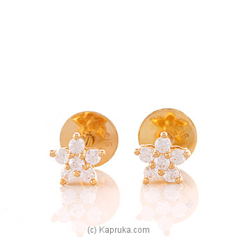 22K Gold Ear Stud Set With 12 (c/z) Rounds at Kapruka Online for specialGifts
