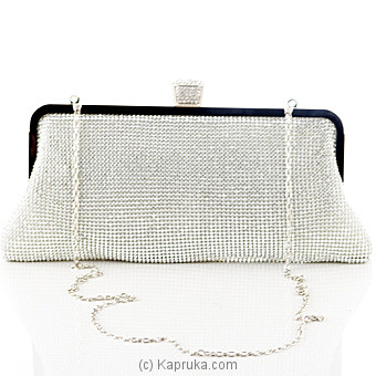 Ladies Evening Clutch - Silver at Kapruka Online for specialGifts