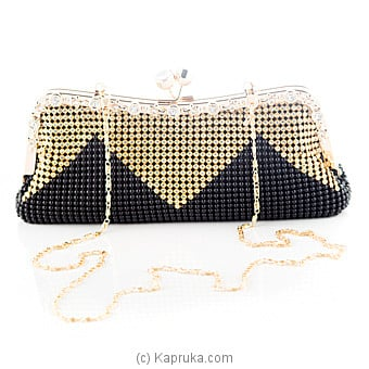 Ladies Evening Clutch - Black And Gold at Kapruka Online for specialGifts