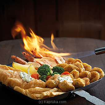 Manhattan Flaming Seafood Platter With Barramundi at Kapruka Online for specialGifts