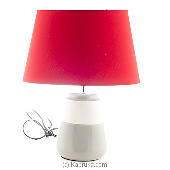 Red Ceramic Table Lamp By HABITAT ACCENT at Kapruka Online forspecialGifts