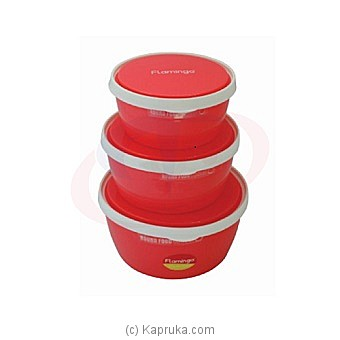 Flamingo Food Containers 3pcs Set (FL5007ATCST) at Kapruka Online for specialGifts
