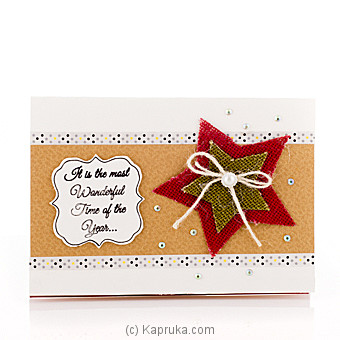 Season`s Greetings Handmade Card at Kapruka Online for specialGifts