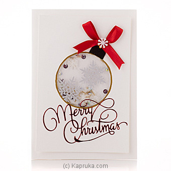 Merry Christmas Handmade Greeting Card at Kapruka Online for specialGifts
