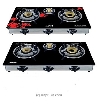 Sanford Three Burner Gas Stove Red/Black   (SF5326GC) at Kapruka Online for specialGifts