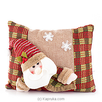 Santa Pom Pom Decorative Throw Pillow at Kapruka Online for specialGifts