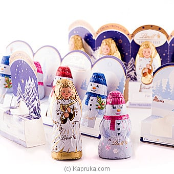 Lindt Angel And Snow Man Assortad Chocolate Pack-100g at Kapruka Online for specialGifts