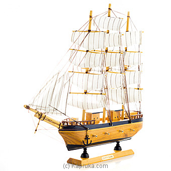 Wooden Sailing Boat Table Ornament at Kapruka Online for specialGifts