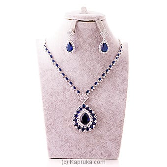 Cubic Zirconia Necklace & Earring at Kapruka Online for specialGifts