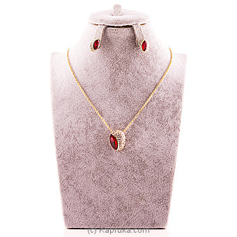 Red Sapphire Necklace With Earring at Kapruka Online for specialGifts
