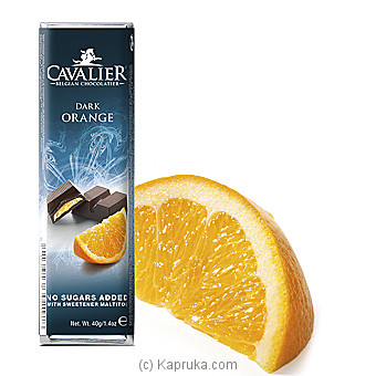 Cavalier Dark Orange Sugar Free Chocolate - 40g at Kapruka Online for specialGifts