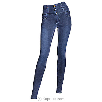 LICC Ladie`s Dark Blue High Waist Jeans at Kapruka Online for specialGifts