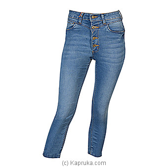 LICC Ladie`s Air Blue High Waist Crop Jeans at Kapruka Online for specialGifts