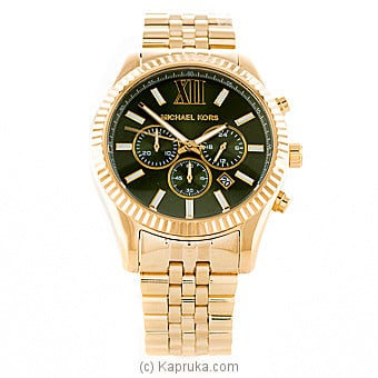 Michael Kors Men`s Lexington Gold-Tone Watch at Kapruka Online for specialGifts