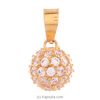 Vogue 22K Gold Pendant Set With 52(c/z) Rounds at Kapruka Online for specialGifts