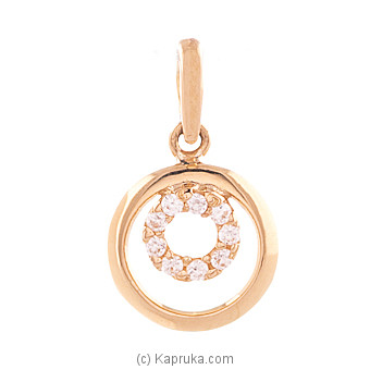 Vogue 22K Gold Pendant Set With 9(c/z) Rounds at Kapruka Online for specialGifts