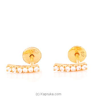 22K Gold  Ear Stud Set With 12(c/z) Rounds at Kapruka Online for specialGifts