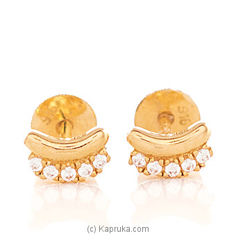 22K Gold  Ear Stud Set With 10(c/z) Rounds at Kapruka Online for specialGifts