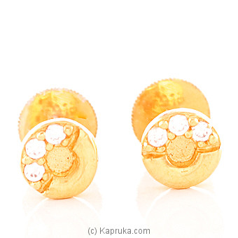 22K Gold  Ear Stud Set With 6(c/z) Rounds at Kapruka Online for specialGifts