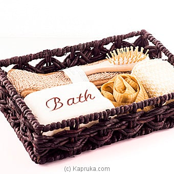 5 Piece Spa Kit In A Cane Basket at Kapruka Online for specialGifts