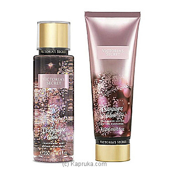 VS Champagne Glow Fragrance Mist & VS Champagne Glow Fragrance Lotion at Kapruka Online for specialGifts