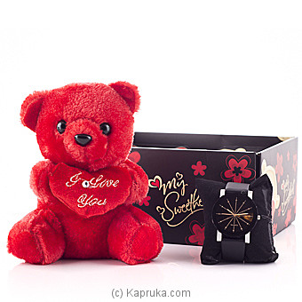 Pretty Girl Teddy With Watch at Kapruka Online for specialGifts