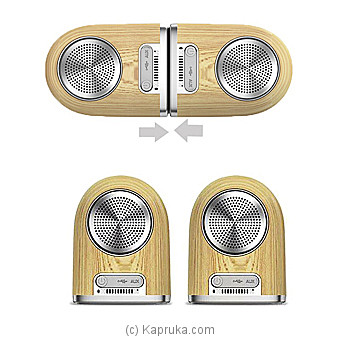 Wireless Bluetooth Portable LED Speaker Amplifier 4D Surround Sound - Wood Color at Kapruka Online for specialGifts