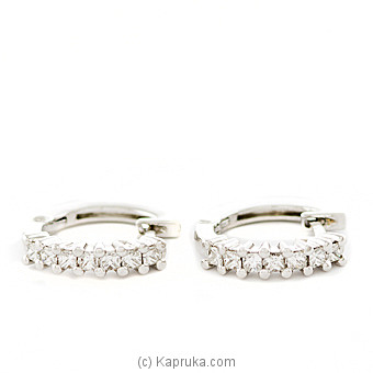 18k White Gold Earring Set (ALE 1478) at Kapruka Online for specialGifts