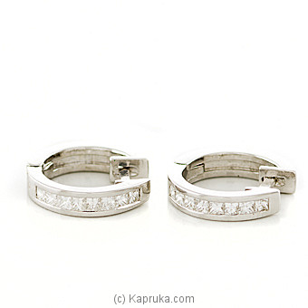 18k White Gold Earring Set  (ALE 1435) at Kapruka Online for specialGifts