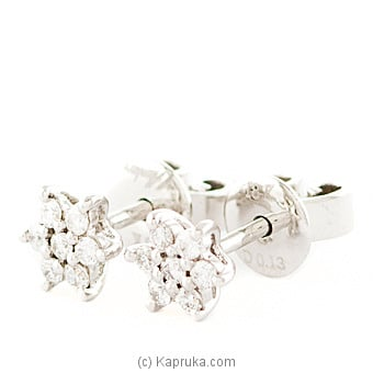 18k White Gold Earring Set (ALE 271 1.3P) at Kapruka Online for specialGifts