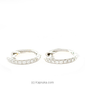 18k White Gold Earring Set With (AFE 1497) at Kapruka Online for specialGifts