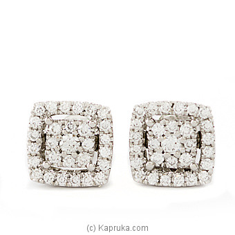 18k White Gold Earring Set (FE 137) at Kapruka Online for specialGifts