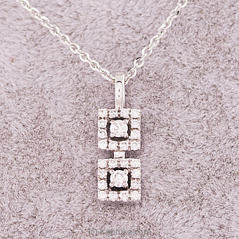 18k White Gold Pendent Set  (PR 22 P 2) at Kapruka Online for specialGifts