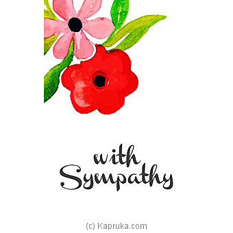 Sympathy Cards at Kapruka Online for specialGifts