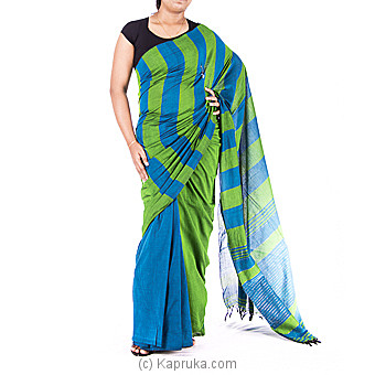 Green and blue color Handloom Sareeat Kapruka Online forspecialGifts