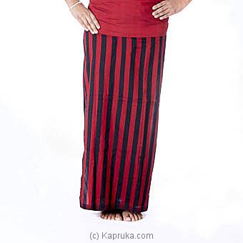 Red And Black Stripes Handloom Lungi at Kapruka Online for specialGifts