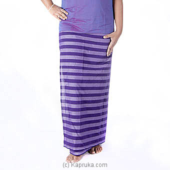 Handloom Purple Strips Lungi with blouse meterial at Kapruka Online for specialGifts