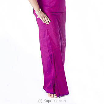 Purple Handloom Lungi With Blouse Meterial at Kapruka Online for specialGifts
