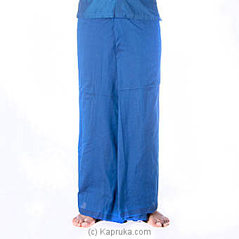 Blue  Handloom Sarong at Kapruka Online for specialGifts