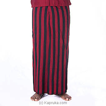 Red And Black check Handloom Sarongat Kapruka Online forspecialGifts