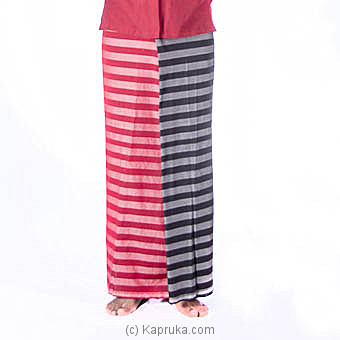 Red And Black Stripes Handloom Sarong at Kapruka Online for specialGifts