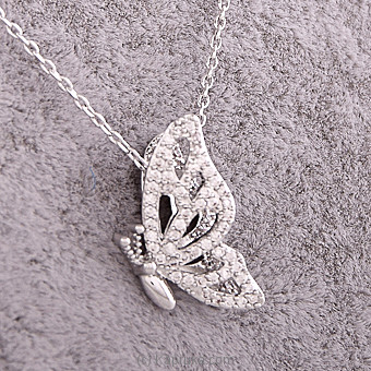 Butterflie Pendant With Silver Chain at Kapruka Online for specialGifts